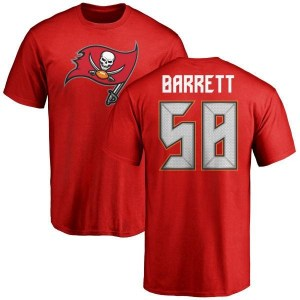 Shaquil Barrett Tampa Bay Buccaneers Men's Red Any Name & Number Logo T-Shirt -