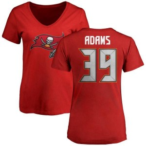 Andrew Adams Tampa Bay Buccaneers Women's Red Any Name & Number Logo Slim Fit T-Shirt -