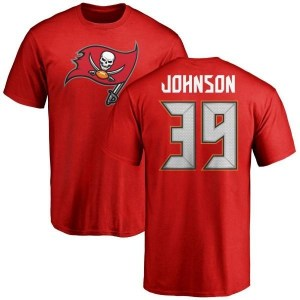 Isaiah Johnson Tampa Bay Buccaneers Men's Red Pro Line Any Name & Number Logo T-Shirt -
