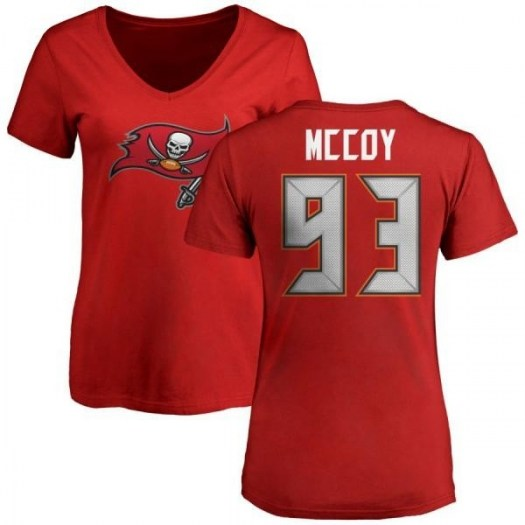 Gerald McCoy Tampa Bay Buccaneers Women's Red Pro Line Any Name & Number Logo Slim Fit T-Shirt -