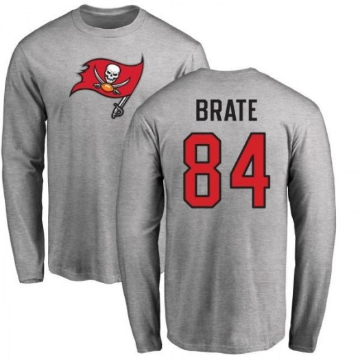 Cameron Brate Tampa Bay Buccaneers Men's Pro Line Name & Number Logo Long Sleeve T-Shirt - Ash