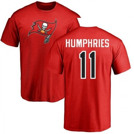 Adam Humphries Tampa Bay Buccaneers Men's Red Pro Line Any Name & Number Logo T-Shirt -