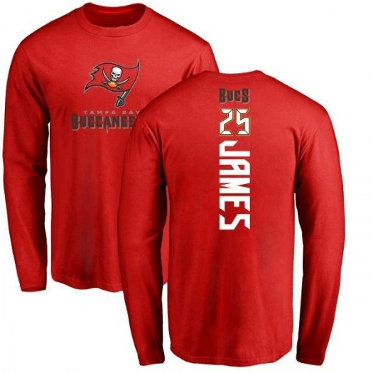 Mike James Tampa Bay Buccaneers Men's Red Pro Line Backer Long Sleeve T-Shirt -